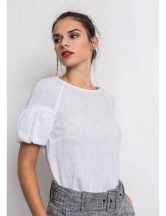 Blusa De Lino Blanca de Alba Conde para mujer Wabi Sabi, Detail, T Shirt, Diy, Outfits, Clothes, Tops, Dresses, Women