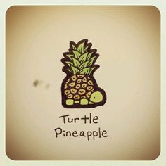 Turtle Pineapple for Maui Cute Drawings, Animal Drawings, Pokemon, Cute Turtles, Turtle Love, Cute Cartoon, Cute Art, Artsy Fartsy, Cute Animals