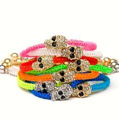 skull bracelets www.inlandfashion.com