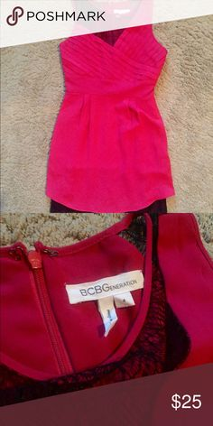BCBG dress! Hot pink and goes down to a little above the knee! Size 4 😊 lots of life left in this adorable little dress BCBGeneration Dresses