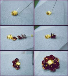 ♥♥ MY LITTLE HOBBY ♥♥: Tutorial Crumble & Sequin Flowers: