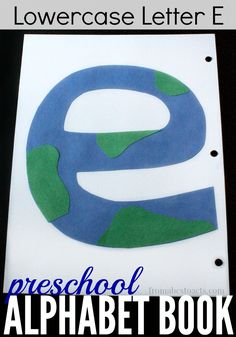 Perfect for a space theme unit or just as a part of our preschool alphabet book, this letter E earth is a great way to practice scissor skills with your preschooler!