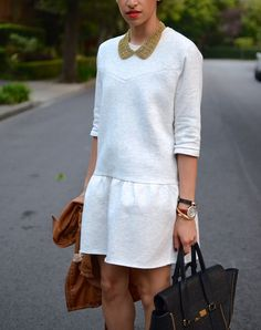 sweatshirt inspired dress