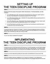 Teen Discipline Program