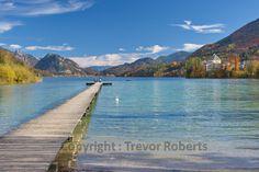 Idyllischer Steg am Ufer des Fuschlsees Austria, Mountains, Nature, Photography, Travel, Woodland Forest, Water, Naturaleza, Photograph