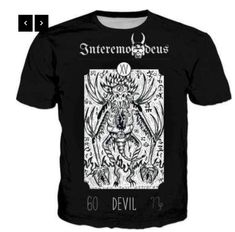 Banned Pentagram Baphomet Goat Occult Loose Fit Black Top Alternative Goth Witch