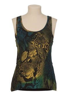 Tribal Craze Collection: Animal Print Ruffle Tank - maurices.com