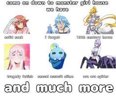 Anime D, Anime Furry, Otaku Anime, Anime Stuff, Living With Monster Girls, Stupid Funny Memes, Hilarious, Monster Museum, Anime Monsters