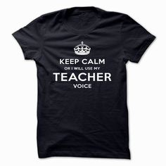 Keep Calm OR I WILL USE MY #TEACHER VOICE, Order HERE ==> https://www.sunfrog.com/LifeStyle/Keep-Calm-OR-I-WILL-USE-MY-TEACHER-VOICE-cqhkz-NavyBlue.html?29538, Please tag & share with your friends who would love it , #renegadelife #birthdaygifts #xmasgifts