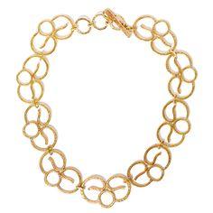 Solid Brass Necklace Aurora