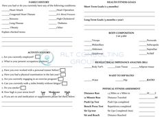 Llc Formation Form Free Fitness Assessment Form for