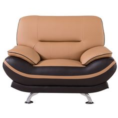 AmericanEagleInternationalTrading Mason Arm Chair Upholstery: Yellow / Brown