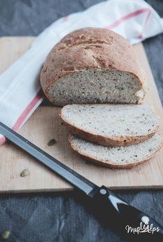 Easy Seedy Bread | www.maplealps.com Bread Recipes, New Recipes, Vegan Recipes, Easy Recipes, Roasted Almonds, Love Eat, Artisan Bread, How To Make Bread, Easy Meals