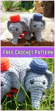 Crochet Elephant Plush Toy Amigurumi Free Patterns-Crochet Elephant Elephant Amigurumi Free Pattern