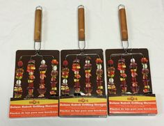 MR. BAR-B-Q Deluxe Kabob Grilling Skewers - Set of 3 (equals 12 skewers)  #MRBARBQ #FathersDay $20.99