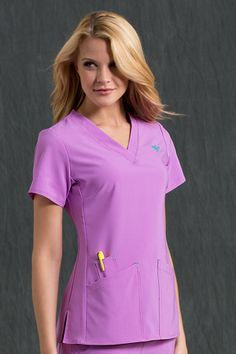 Incredibly stylish scrubs... 8451 Riviera Top - Med Couture #scrubs
