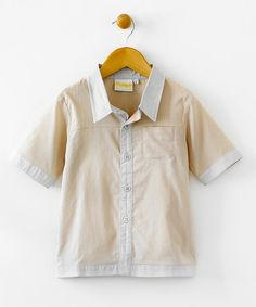 Take a look at this Jimmy Button-Up Shirt - Infant, Toddler & Boys by Blow-Out on #zulily today! #fall