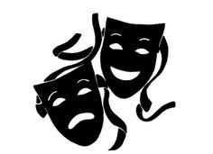 comedy and tragedy masks free clip art taller de teatro campo de rh pinterest com theater mask clip art theatre mask clipart