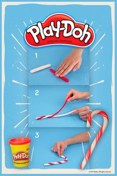 This easy-to-make candy cane can jump-start your kid's Christmas scene. Play-Doh compound lets kids explore their imagination, and there's no shortage of inspiration this time of year!