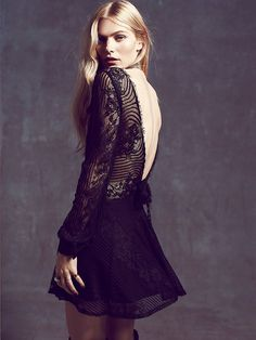 For Love & Lemons Lolo Lace Fit and Flare Dress