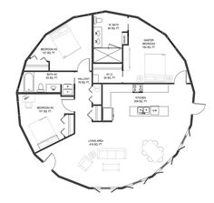 Browse nearly ready-made house plans to find your dream home today. Floor plans can be easily modified by our in-house designers. Round House Plans, Small House Plans, House Floor Plans, Small Prefab Homes, Modular Homes, Tiny Homes, Silo House, Tiny House Cabin, Yurt Home