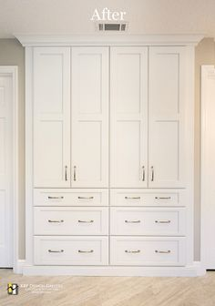Bathroom built-in linen closet with drawers! Bathroom storage has never looked so good!