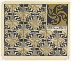 Koloman Moser, wallpaper design Golden Butterflies, 1901. Color lithograph on paper.