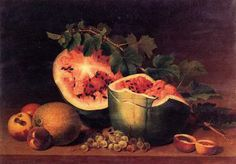 Still Life with Broken Watermelon, 1820-30 - James Peale - The Athenaeum