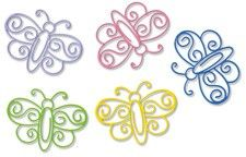 Butterfly Paper Clips