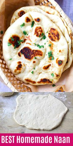 Naan – easy homemade naan recipe using a cast-iron skillet. Soft, puffy, with be… Naan – easy homemade naan recipe using a cast-iron skillet. Soft, puffy, with beautiful brown blisters just like Indian restaurants. Nann Bread Recipe, Naan Bread Recipe Easy, Homemade Naan Bread, Recipes With Naan Bread, Indian Naan Bread Recipe, Tandoori Naan Recipe, Flatbread Recipes, Naan Recipe Yogurt, Flat Bread Dough Recipe