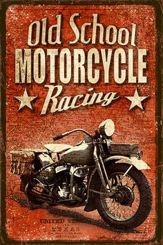 JF_0068_GR1 Cuadro Old School Motorcycle Racing