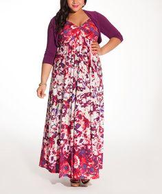 Look what I found on #zulily! Pink Floral Avril Maxi Dress & Shrug - Plus by IGIGI #zulilyfinds
