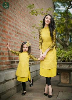 """I'm on one foot, held up by Mommy and the wall. Ao Dai, Family Outfits, Mommy And Me Outfits, Kids Outfits, Mom Daughter Matching Dresses, Look Fashion, Girl Fashion, Mother Daughter Fashion, Mother Daughters"