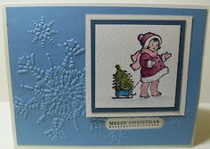 All That Scrap: Greeting Card Kids-Blue Christmas