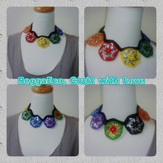 Pop tab collar necklace made by Sunny myself