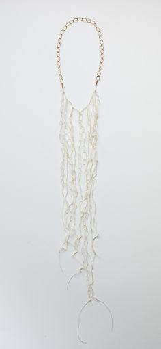 Rececca Deans - Siren white necklace -  18k gold, thread