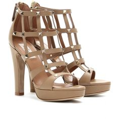 Valentino LEATHER CAGE SANDALS seen @www.mytheresa.com. Looks great