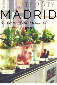 Experience the local food culture in these food markets. A must-go when you're in Madrid! Valencia, Madrid Travel, Backpacking Europe, Spain And Portugal, Travel Advice, Travel Guide, Seville, Spain Travel, Foodie Travel