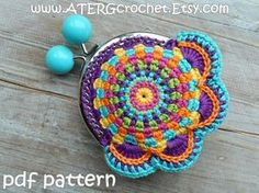 Searched and did'nt find it ATERGcrochet- Greta Tulner- Purse colorful crochet pdf patterns + crochet 'made for you' by ATERGcrochet Tapestry Crochet Patterns, Crochet Purse Patterns, Crochet Motifs, Freeform Crochet, Crochet Wallet, Crochet Coin Purse, Crochet Purses, Crochet Diy, Crochet Hooks
