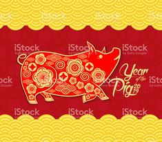 Chinese new year pattern background. Year of the pig royalty-free chinese new year pattern background year of the pig stock vector art & more images of 2019