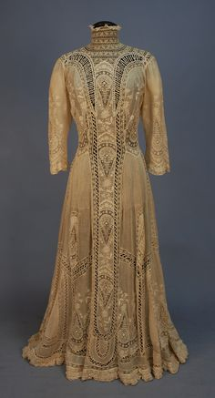 Embroidered Edwardian Tea Gown, 1900's
