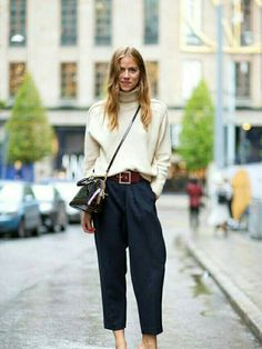 Chunky sweater & culotte length