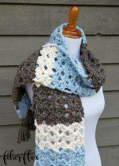 Fiber Flux: Free Crochet Pattern...Winter Woods Scarf