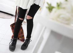 Filthy Magic — Split Knee Leggings - StyleSays