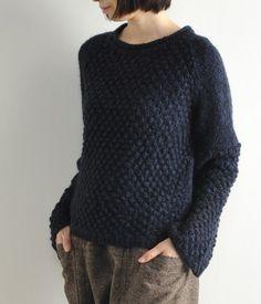ユイティーム・ニ 天竺+ポップコーンニットプルオーバー / popcorn knit pullover on ShopStyle