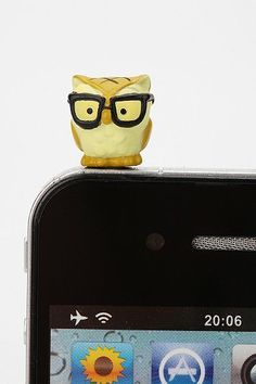 Owl iPhone Charm #Owl #iPhone #Charm #accessory #glasses