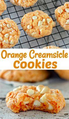 Cake Batter Cookies, Cake Mix Cookie Recipes, Cookie Flavors, Cookies With Cake Mix, Super Cookies, Cupcakes, Orange Creamsicle Cookie Recipe, Creamsicle Cake, Fun Baking Recipes