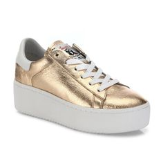 Cult Metallic Leather Platform Sneakers by ASH
