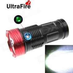 UltraFire XM-L T6 9-LED 8500lm 3-Mode High Power LED Flashlight w/ Power Display - Black + Red. Note: We are currently unable to ship to addresses in HongKong, mainland of China. Working voltage 3.7Vv Working current 4.8A Light dots diameter in 1m light spot 15-20cm Constant drive circuit Hard Anodized finish with IP67 waterproof degree 1. Emitter is CREE XM-L T6 9 pieces totally in super brightness up to maximum 8500 lumens and LED bulb's life span is 1000000 hours 2. Circuit can prevent…