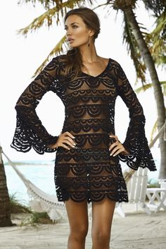 PilyQ lace cover-up dress at www.cocoisabella.com